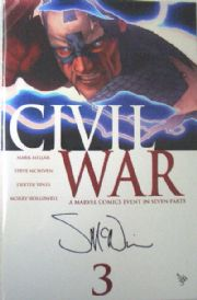 Civil War #3 Dynamic Forces Signed Steve McNiven DF COA #3/599 Marvel comic book